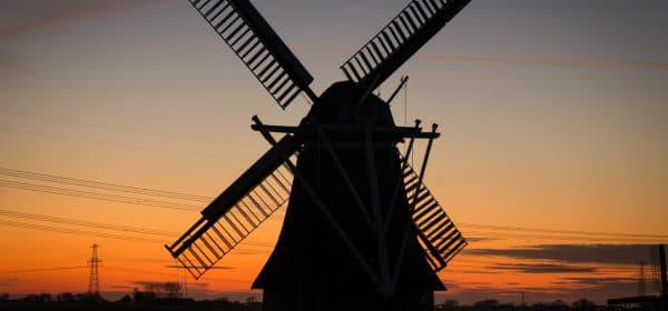 Typisch Hollandse windmolen